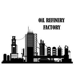 Oil refinery factory vector image vector image
