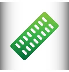 Pills sign green gradient icon vector