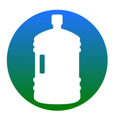 Plastic bottle silhouette sign white icon vector