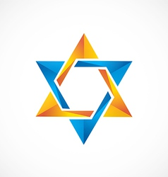 star abstract 3D shinny logo vector image vector image