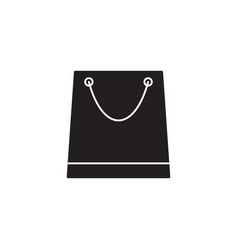 Store and shopping bag solid icon modern sign vector