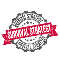 Survival strategy stamp sign seal vector