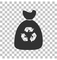 Trash bag icon Dark gray icon on transparent vector image vector image