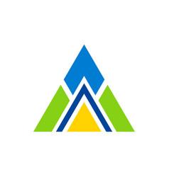 triangle construction logo vector image