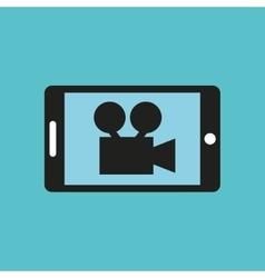 video camera design vector image vector image