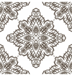Vintage lace pattern in eastern style vector