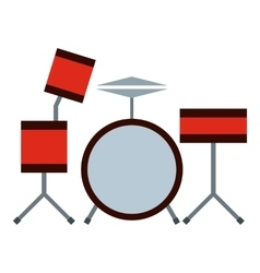 Drums icon flat style vector