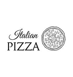 italian pizza label badge pizzeria design elements vector image