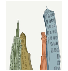 Creative skyscraper towers vector