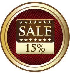 Fifteen percent sale icon vector