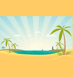 Paradise bay vector