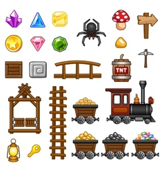 Mine assets 2 vector
