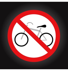 No bike allowed sign vector