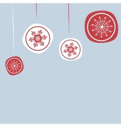 Christmas background with new years ornaments vector