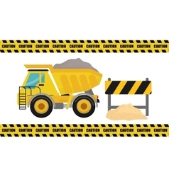 Construction design truck icon repair concept vector