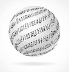 Music globe vector