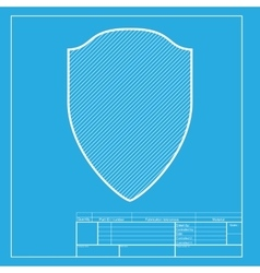 Shield sign  white section of icon on vector