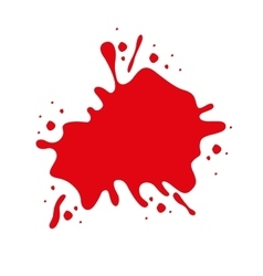 Red paint stain isolated icon design vector