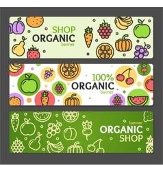 Eco shop banner horizontal set vector