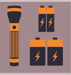 Battery energy flashlight tool vector