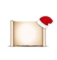 Blank Paper With Santa Hat vector image