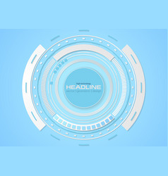 Blue cyan abstract tech hud gear background vector