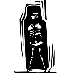 Bones within vector image vector image
