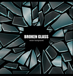 broken black glass background poster vector image vector image