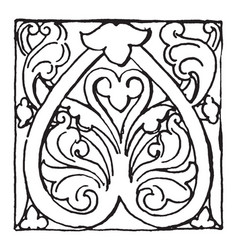 Bronze ornament from aachen is in ninth century vector