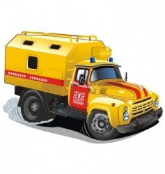 cartoon repair truck vector image vector image