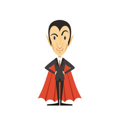 count dracula vampire standing in suit and red vector image