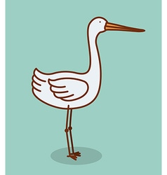 cute stork vector image vector image