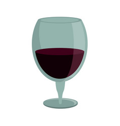 drinking glass wine icon vector image vector image