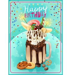 Extreme Freakshake Birthday Party Announcement vector image