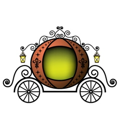 fairytale carriage vector image