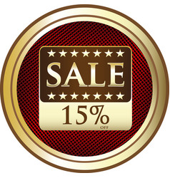 fifteen percent sale icon vector image vector image
