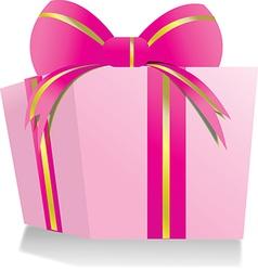 Giftbox pink vector