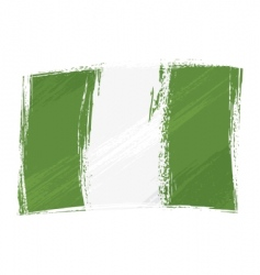 grunge Nigeria flag vector image vector image
