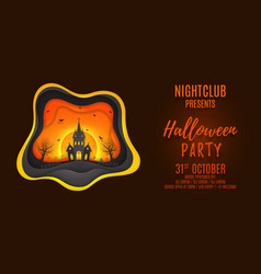 halloween party web banner design vector image