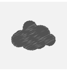 Hand drawn simple gray cloud vector image vector image