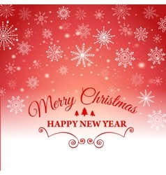 Happy New Year and Merry Christmas e-card vector image