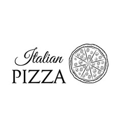 italian pizza label badge pizzeria design elements vector image vector image