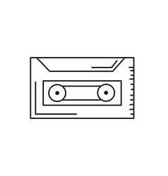 line cassette to listen and play music vector image vector image