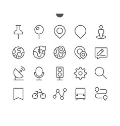 location pixel perfect well-crafted thin vector image vector image