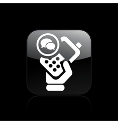 phone chat icon vector image vector image