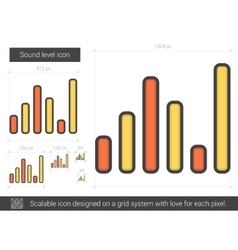 Sound level line icon vector