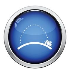 Sunrise icon vector image