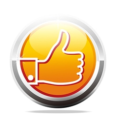 thumb up like finger design icon vector image