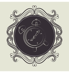 Time and clock vector image
