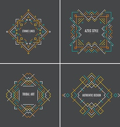 Tribal Logotypes vector image